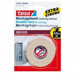 TESA - Nastro biadesivo 19mm x 1.5m cinta adhesiva 1,5 m Transparente