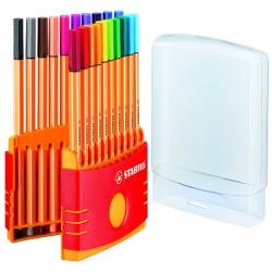 STABILO - Point 88 pluma estiligráfica Multi 20 pieza(s)