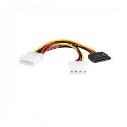 StarTech.com - 6in LP4 - LP4 SATA Power Y Cable Adapter cable de transmisión Multicolor