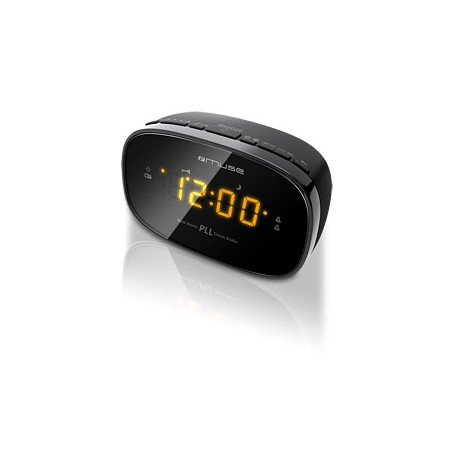 Muse - M-150 CR Reloj Digital Negro radio