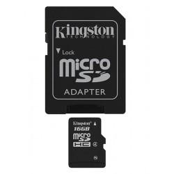 Kingston Technology - 16Gb microSDHC 16GB MicroSDHC Flash Clase 4 memoria flash
