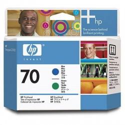 HP - Cabezal de impresión DesignJet 70 azul y verde