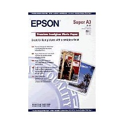 Epson - Premium Semigloss Photo Paper, DIN A3+, 250 g/m², 20 hojas
