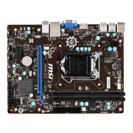 MSI - H81M-E33 Intel H81 LGA 1150 (Socket H3) Micro ATX placa base