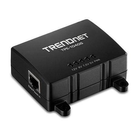 Trendnet - TPE-104GS Energía sobre Ethernet (PoE) Negro divisor de red