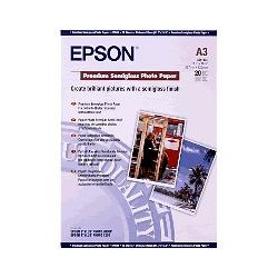 Epson - Premium Semigloss Photo Paper, DIN A3, 251 g/m², 20 hojas