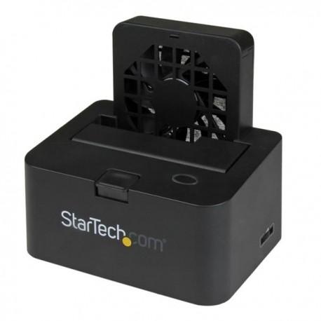 StarTech.com - Base de Conexión Externa USB 3.0 UASP y eSATA con Ventilador para Disco Duro SATA III 6Gbps de 2,5 y