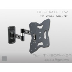 3GO - TVSOP-A2R soporte de pie para pantalla plana Negro
