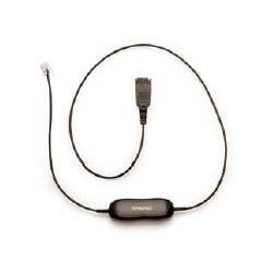 Jabra - Cord for Alcatel, 500mm + 3.5m 3.5m Negro cable telefónico