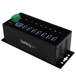 StarTech.com - Hub Ladrón USB 3.0 de 7 Puertos Industrial - Concentrador USB con Protección contra Descargas