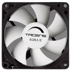 Tacens - Aura II 8cm Carcasa del ordenador Ventilador Negro, Blanco