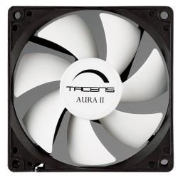 Tacens - Aura II 9cm Carcasa del ordenador Ventilador Negro, Blanco