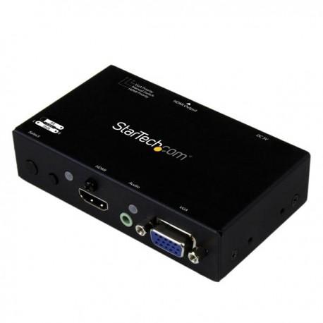 StarTech.com - Switch Conversor 2x1 VGA + HDMI a HDMI con Conmutado Prioritario y Automático - Selector 1080p