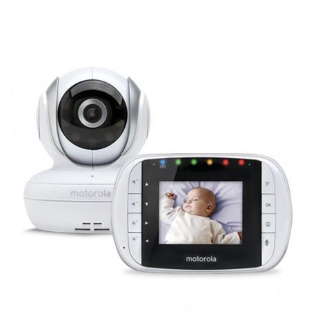 Motorola - MBP33S 180m Color blanco video-monitor para bebés