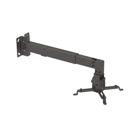 TooQ - SOPORTE UNIVERSAL INCLINABLE DE PARED PARA PROYECTOR NEGRO
