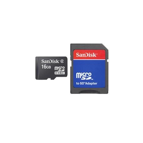 Sandisk - microSD Card 16GB + Adapter 16GB MicroSD memoria flash