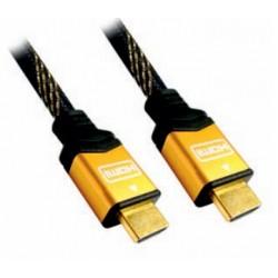 Nanocable - CABLE HDMI V1.4 (ALTA VELOCIDAD / HEC), A/M-A/M, ORO, 3.0 M