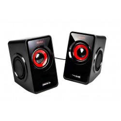 Mars Gaming - MS1 altavoz Negro, Rojo Alámbrico 10 W