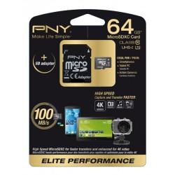 PNY - 64GB MicroSD 64GB MicroSD UHS Clase 10 memoria flash