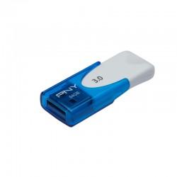 PNY - Attaché 4 3.0 64GB 64GB USB 3.0 (3.1 Gen 1) Conector USB Tipo A Azul, Blanco unidad flash USB