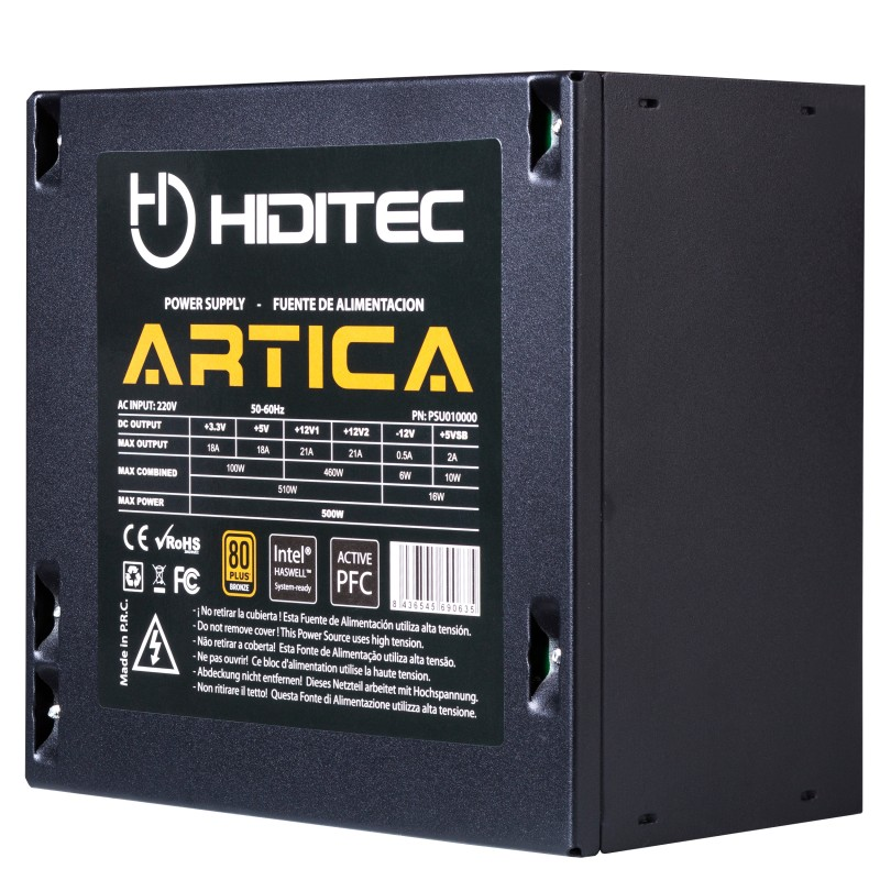 Hiditec - Artica 500W 80Plus Bronze