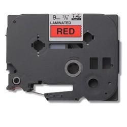 Brother - Gloss Laminated Labelling Tape - 9mm, Black/Red cinta para impresora de etiquetas TZ