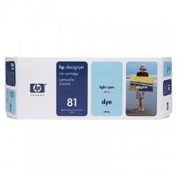 HP - Cartucho de tinta colorante DesignJet 81 cian claro de 680 ml