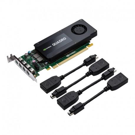 PNY - VCQK1200DP-PB Quadro K1200 4GB GDDR5 tarjeta gráfica