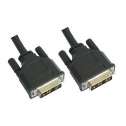 Nanocable - 10.15.0602 cable DVI 1,8 m Negro