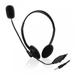 Ewent - EW3567 auricular y casco Auriculares Diadema Conector de 3,5 mm Negro