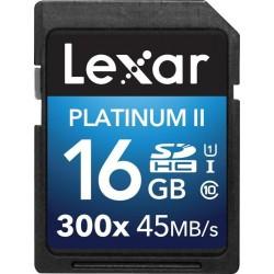 Lexar - 16GB Platinum II SDHC UHS-I memoria flash Clase 10
