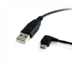 StarTech.com - Cable de 30cm USB A a Micro USB B Acodado a la Izquierda para Teléfono Móvil y Smartphone