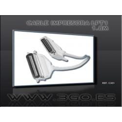 3GO - C301 cable de impresora 1,8 m Beige