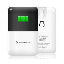 Phoenix Technologies - PHPOWERBANK3000+ Polímero de litio 3000mAh Negro, Color blanco batería externa
