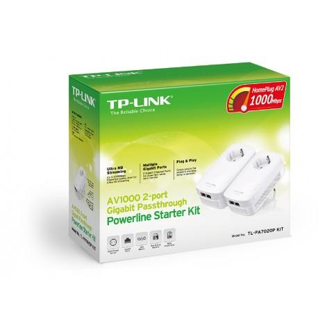 TP-LINK - AV1000 Ethernet Blanco 2pieza(s) - 22129077