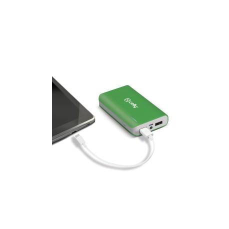 Celly - Li-Ion 6000mAh Ión de litio 6000mAh Verde batería externa