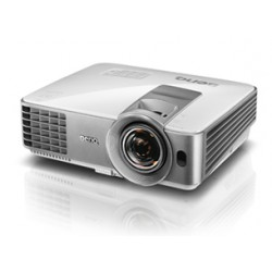 Benq - MS630ST videoproyector 3200 lúmenes ANSI DLP SVGA (800x600) 3D Proyector para escritorio Plata, Blanco