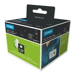 DYMO - Large Name Badge Cards 250pieza(s) Negro, Color blanco etiqueta sin adhesivo