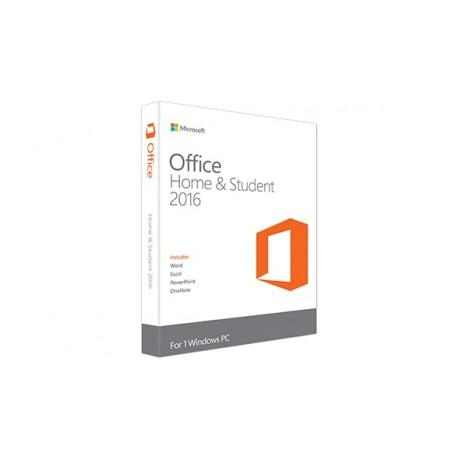 Microsoft - Office Home & Student 2016 Completo 1usuario(s) Plurilingüe
