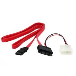 StarTech.com - Cable SATA de Línea Delgada a SATA de 36 pulgadas con Adaptador de Alimentación LP4