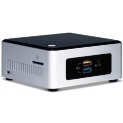 Intel - BOXNUC5PPYH PC/estación de trabajo barebone N3700 1,6 GHz UCFF Plata, Negro BGA 1170