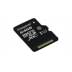 Kingston Technology - microSDXC Class 10 UHS-I Card 64GB 64GB MicroSDXC UHS-I Clase 10 memoria flash - 17926662