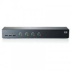 Hewlett Packard Enterprise - AF611A Montaje en rack Negro interruptor KVM