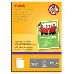 Kodak - Papel fotografico con soporte magnético A6 en paquetes de 5 hojas