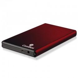 "CoolBox - Slimchase 2520 Carcasa de disco duro/SSD 2.5"" USB con suministro de corriente Rojo"