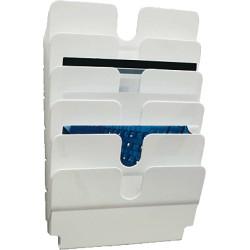 Durable - FLEXIPLUS estantería para libros 6 estanterías Blanco