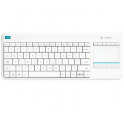 Logitech - K400 PLUS RF inalámbrico QWERTY Color blanco teclado