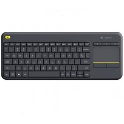 Logitech - K400 Plus teclado RF inalámbrico QWERTY Español Negro