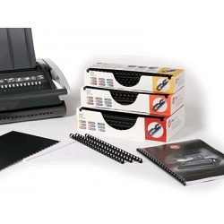 GBC - Canutillo Plástico Procomb 6mm Negro (Caja 100)