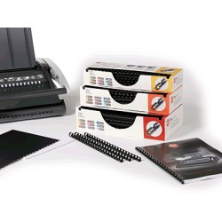 GBC - Canutillo Plástico Procomb 16mm Negro (Caja 100)